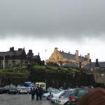 Sterling Castle from the parking lot. Make sure you being an umbrella to Scotland.