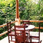 villa balcony dining table