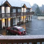 Hanmer Inn Motel and it's snowing!!