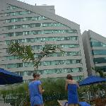The hotel from the pool