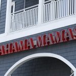 Neon signage marks the entrance to Bahama Mama's On Wicomico Street in Ocean City MD.