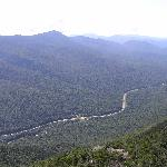 Franconia Notch from summit of Mt. Canon