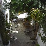 Breakfast area at the Posada de Palacio