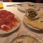 "the ""speciale"" cheese platter and meat cold cuts"
