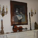 Bedroom decor, mantle