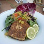 Blackened Swordfish at The Reef on the Water in Long Beach