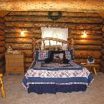 Inside Saddlehorn Log Cabin