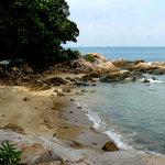 rocks and sand around Nongsa
