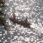 Enjoying a relaxing canoe trip on the lake