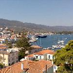 View of the port from the roof terrace