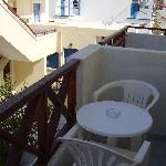small balcony - self catering were bigger
