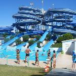 Rides at Aqualand, Algarve, Portugal
