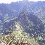 View of the citadel and Huayna Picchu from top of Machu Picchu, you have a 360 degree view at to