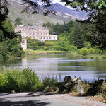 Arriving to Ballynahinch Castle Hotel by the backroad