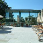 Sun deck beside pool