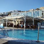 pool and swim-up bar