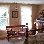 One of the guest rooms.