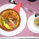 Crème Brûlée (€5) and Carajillo with sweet rum