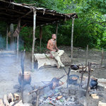 Another Wampanoag reenactor-he was roasting a goose