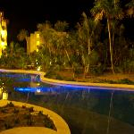 Swim-Out Pool at Night