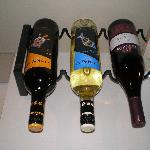 Wine selection in room