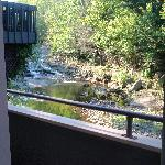 view from balcony of stream
