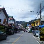 This is the town right outside the resort
