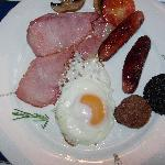Irish breakfast all'Old Castle House