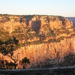 vista sul grand canyon all'alba dalla stanza