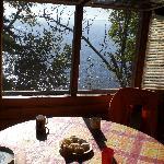 Sunny breakfast in cabin 4