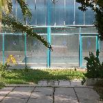 La piscine intérieure, vue de l'extérieur