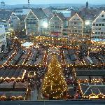 Christmas Market at Dusk