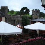 Watermouth castle - patio area