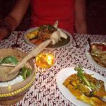 Cena deliciosa en el restaurante