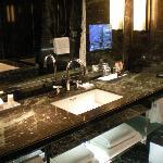 Bathroom w/ TV in Mirror