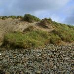 view of sand dunes from the beach