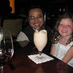 Alexandra and Budi with specially prepared choc milkshake