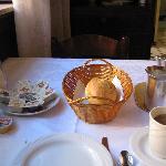 Breakfast (coffee & hard bread!)