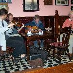 Irish folk music in the bar