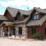 la maison pierre et bois superbe