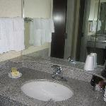 Vanity area and sink