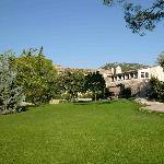 The finca from the lawn