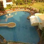 La piscina vista desde la habitación