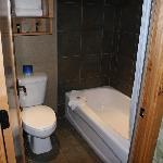 Bathroom of the hotel room