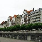 Houses along the banks of the River Rhine - Dusseldorf