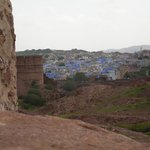 Looking out over the 'blue city' from Jodpur Fort
