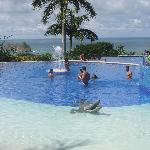 CRica - HotelParador - the upper infinity pool, with a Croc ...