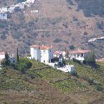 Casa Primavera(in centre) as seen from the village