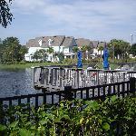 sundeck and lagoon