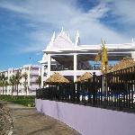 Beachside of resort